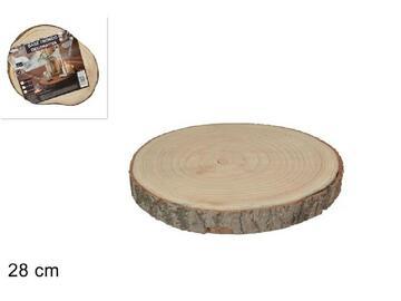 Base tronco in legno, da 28 cm, per creare composizioni di decoro.