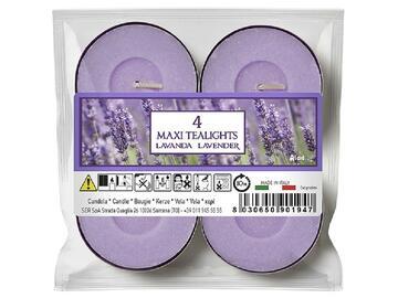 4 Maxi Tealight lavanda