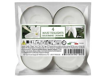 4 Maxi Tealight gelsomino