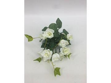 Piccolo e grazioso mazzo di rose bianche artificiali, da decorazione.