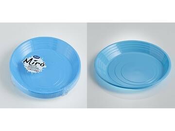 Piatti Miro monouso, colore turchese. Confezione da 25 pezzi.