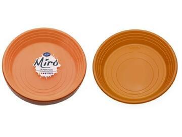 Piatti Miro monouso, colore arancione. Confezione da 25 pezzi.