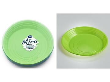 Piatti Miro monouso, colore verde kiwi. Confezione da 25 pezzi.