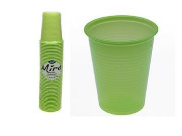 Bicchieri Miro monouso 200CC, colore verde kiwi. Confezione da 50 pezzi.