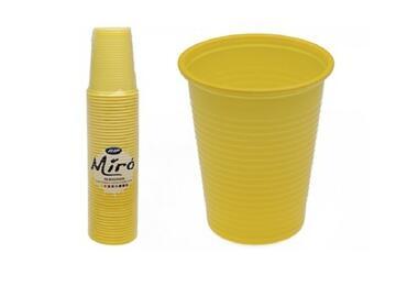 Bicchieri Miro monouso 200CC, colore giallo. Confezione da 50 pezzi.