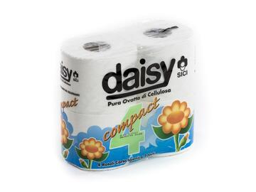 Carta igienica Daisy, 2 veli. Confezione da 4 rotoli.