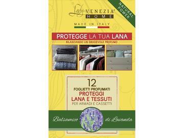 12 foglietti profumati proteggi lana e tessuti per armadi e cassetti