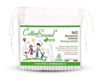 160 bastoncini cotonati biodegradabili puliorecchie