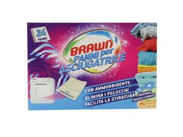 24 panni per asciugatrice Brawn con profumo fresco fiorito