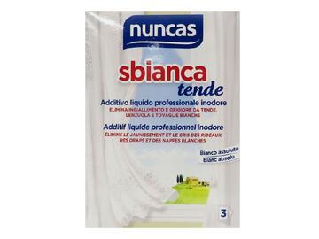 Additivo liquido professionale inodore Nuncas per lo sbiancamento delle tende