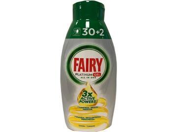 Detergente lavastoviglie Fairy Platinum gel 30+2 limone