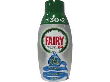 Detergente lavastoviglie Fairy Platinum gel 30+2 brezza marina