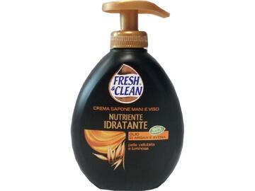 Crema sapone mani e viso nutriente e idratante Fresh and Clean con olio di argan e avena 300 Ml