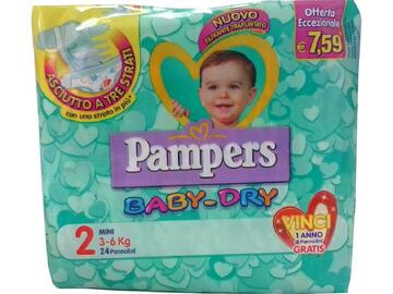 Pannolini Pampers baby dry mini 24 pezzi