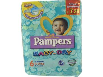 Pannolini Pampers baby dry extralarge 15 pezzi
