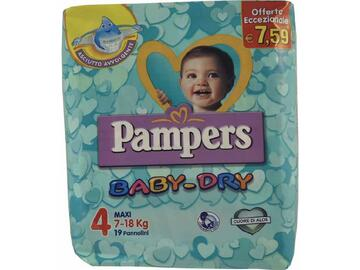Pannolini Pampers baby dry maxi 19 pezzi