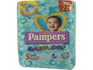 Pannolini Pampers baby dry junior 17 pezzi