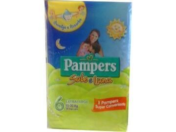 Pannolini Pampers sole e luna extralarge 14 pezzi