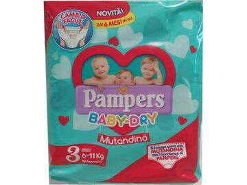 Mutandina Pampers baby dry medi 19 pezzi