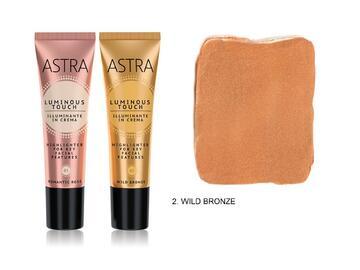 Crema illuminante viso Astra color bronzo selvaggio