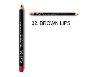 Matita professionale labbra Astra color marrone