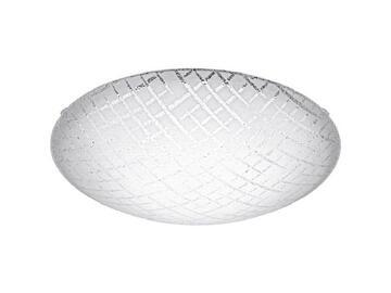 Lampada da parete circolare in acciaio e vetro, colore bianco.