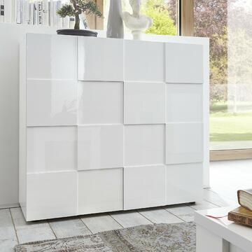 Mobile moderno ed elegante in bianco perlato. Grazie alle 2 ante potrai tenere in ordine tutti i tuoi oggetti.