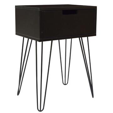 Moderno tavolino con gambe in metallo, disponibile in due colori. Stile e design all'avanguardia!