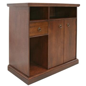 Porta tv classico ed elegante con tanto spazio per contenere tv, decoder e console.