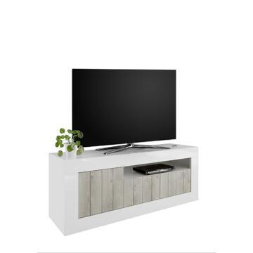 Base TV Urbino è una soluzione d'arredamento per la zona giorno in grado di rendere la vostra casa un ambiente piacevole, confortevole e funzionale. Il colore neutrale bianco pino permette di adattarlo ad ogni ambiente