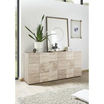 Madia elegante in rovere samoa. Grazie alle 3 ante potrai tenere in ordine i tuoi oggetti e dare un tocco di classe ai tuoi ambienti interni.