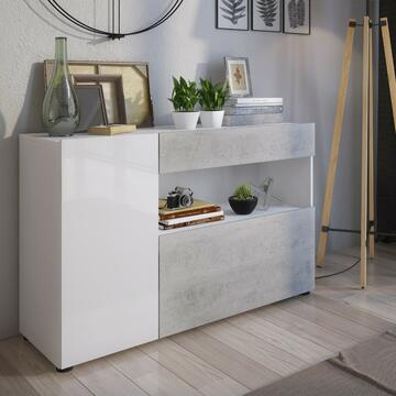Madia Johnny Larice Bianco/Cemento