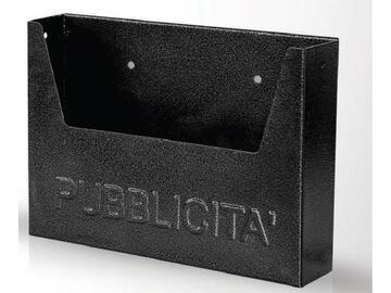 Cassetta per pubblicita, in metallo.