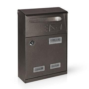 Cassetta posta in metallo, color antracite.