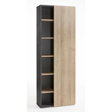Libreria con anta singola e 5 ripiani interni. Scelta moderna ed elegante!