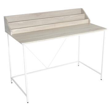 Scrivania porta computer in legno e metallo,120x60x94,5 struttura funzionale e solida. Scegli lo stile alla portata di tutti!