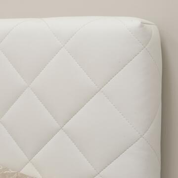 Letto singolo Facile in ecopelle Bianco con contenitore aperto