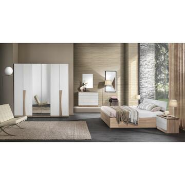 Camera Magnifica Noce/Bianco con letto