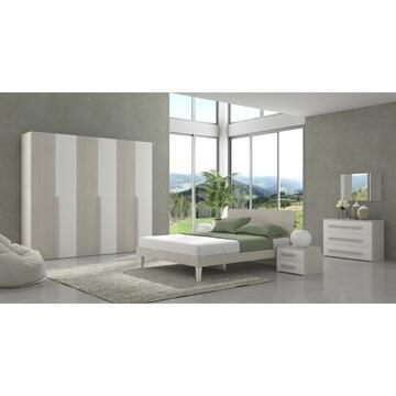 Camera Alba 6 ante Bianco/Olmo con letto