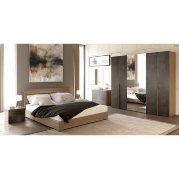 Camera Eva 6 ante Noce/Ossido con letto