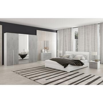 Camera Katiuscia Bianco/Cemento con letto