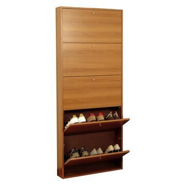 Pratica scarpiera con 5 ripiani. Ti permette di tenere in ordine tutte le tue scarpe occupando pochissimo spazio.