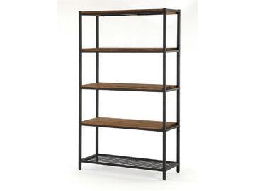 Libreria disponibile in varie misure, struttura metallo e ripiani in legno Stile moderno, industriale. 80x30x124
