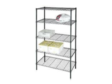 Capiente scaffale in metallo 90x35x180 con 5 ripiani. Adatto per qualsiasi ambiente interno o esterno.