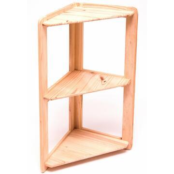 Scaffale ad angolo 3 pianiin legno
