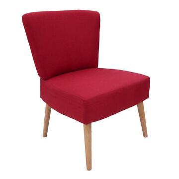 Poltrona Berta rossa caratterizzata da uno stile moderno ed essenziale, ottima struttura e comoditá.