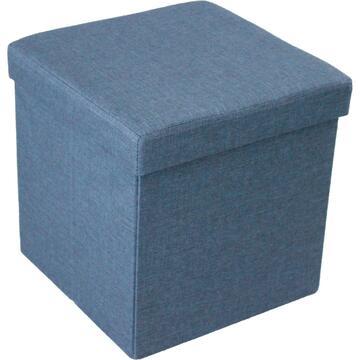 Pouff ALVIN blu rivestito in tessuto, disponibile in diversi colori. Dona particolaritÓ al tuo ambiente.