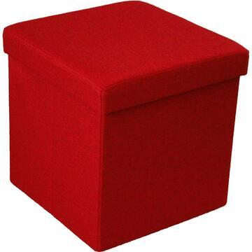 Pouff ALVIN rosso rivestito in tessuto. Dona particolaritÓ al tuo ambiente.