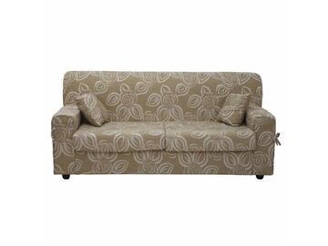 Comodo divano 3 posti con schienale unico, sedute formate da due cuscini extralarge e completo di 2 cuscini arredo abbinati alla fantasia del divano.
