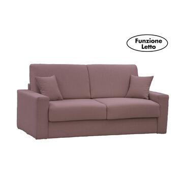 Moderno ed elegante divano PASHA corda trasformabile in letto con rete elettrosaldata e 2 contenitori portacuscini. Disponibile in vari colori e misure.
